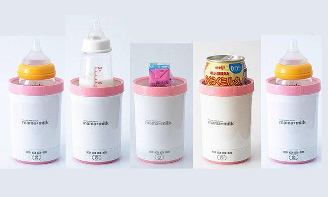 これ便利すぎん?液体ミルクそのままあっためられるんだって。モバイルバッテリーにもシガーソケットにもつなげられて。こんなの娘が小さい頃に欲しかった..