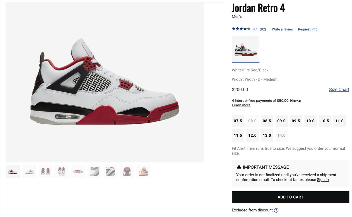 Solelinks On Twitter Ad Air Jordan 4 Retro Fire Red Restocked Via Champs Https T Co Nbvqafoi1v Последние твиты от solelinks (@solelinks). air jordan 4 retro fire red