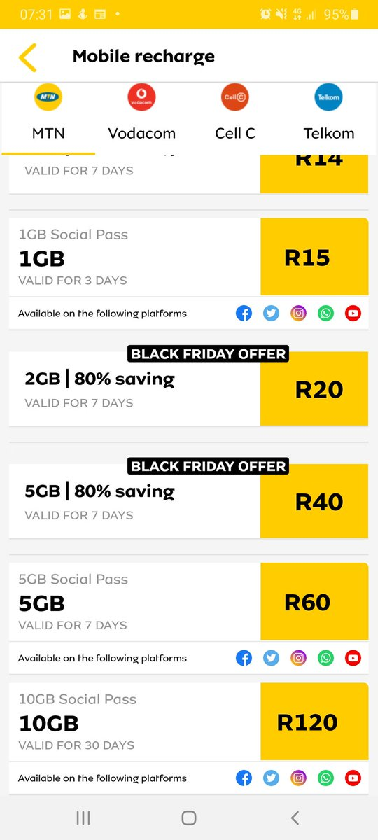 @MTNza Huge Black Friday deals by MTN till the 9th of Dec😁🎊 #BlackFriday2020  #blackfridaysale  #BlackFridayDeals  #remake2020 https://t.co/Ad2rWd76OI