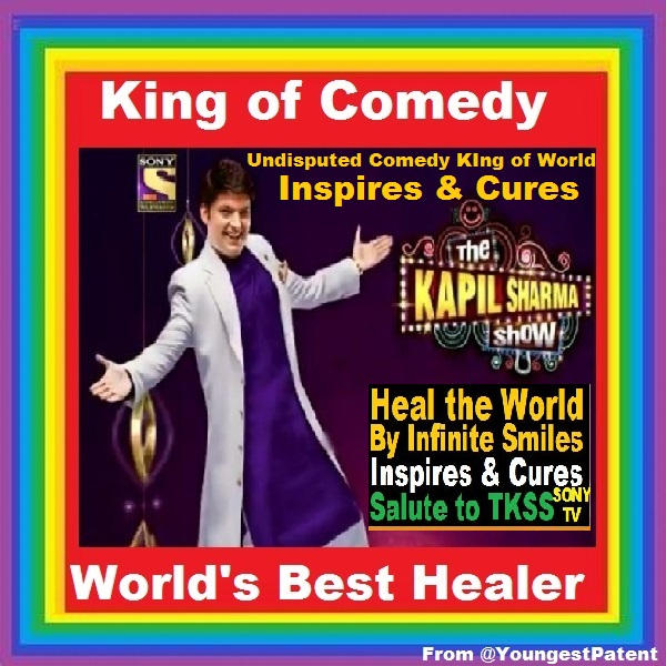 @KapilSharmaK9 is #Comedy #King #World & Best Healer World. #KapilSharma & @Tksshowofficial deserves BIG SALUTE for Inspiring & Curing by providing infinite happiness > #tkss @ChatrathGinni @SonyLIV @vivekkrishnani @apshaha  #TheKapilSharmaShow @SonyTV @sumona24 @haanjichandan
