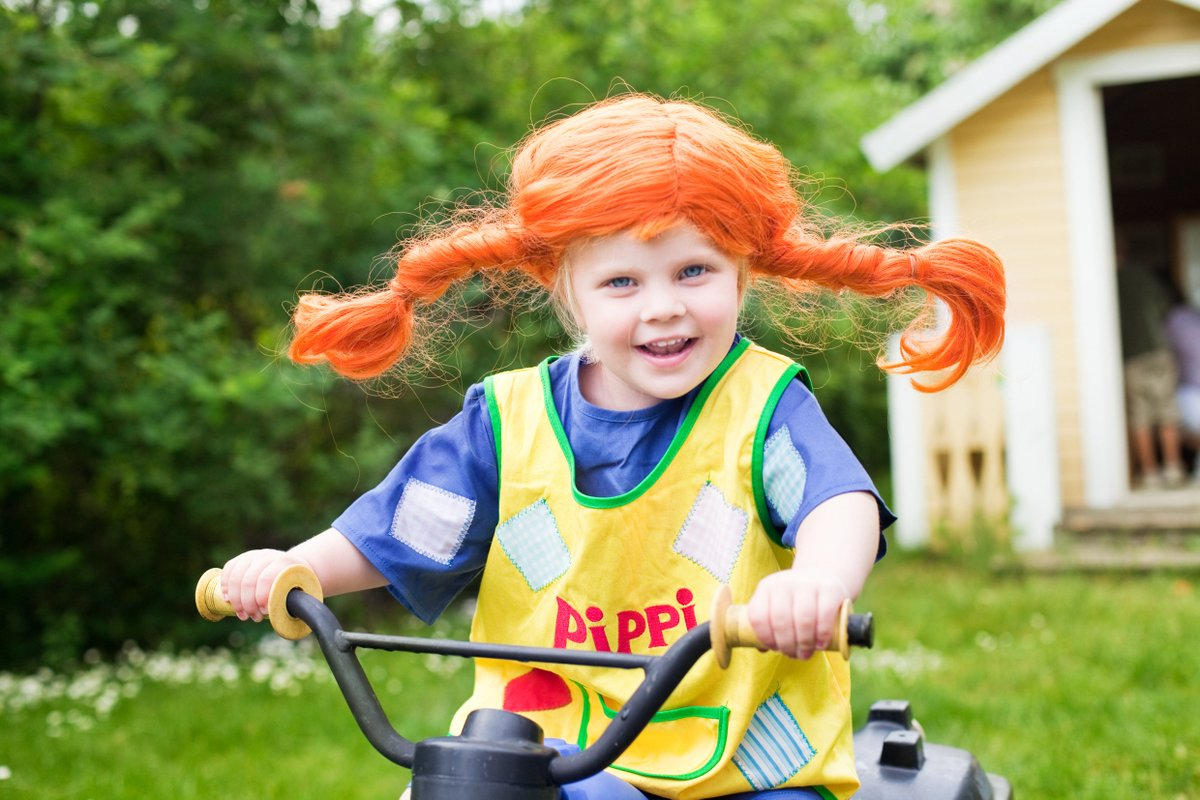The brilliant literary character Pippi Longstocking is 75 years young. ❤️ Swedish author Astrid Lindgren's first book about the strong-willed girl capable of carrying a horse was published in 1945.   Photo: Lena Granefelt/imagebank.sweden.se https://t.co/brKvPm8dka