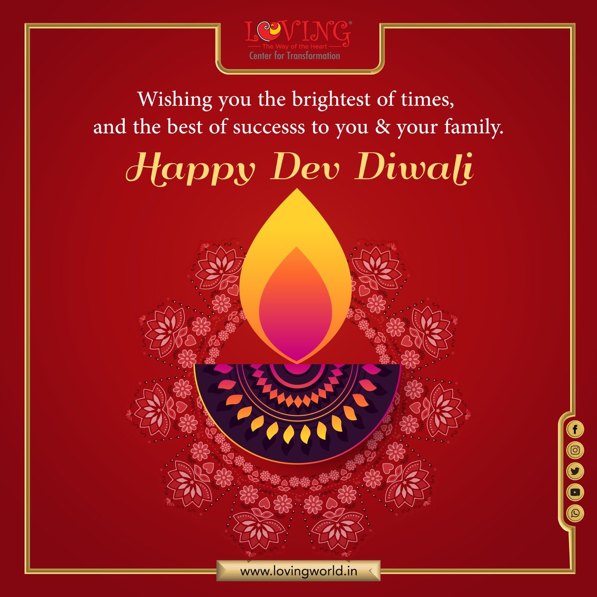 Wish you are blessed with peace, prosperity, happiness, good health and grand success. *** HAPPY Dev DIWALI *** . . . #HappyDevDiwali #DevDiwali #DevDipavali #DevDiwali2020 #Diwali #HappyDiwali #Diwali2020 #HappyDiwali2020 #कार्तिक_पूर्णिमा #KartikPurnima