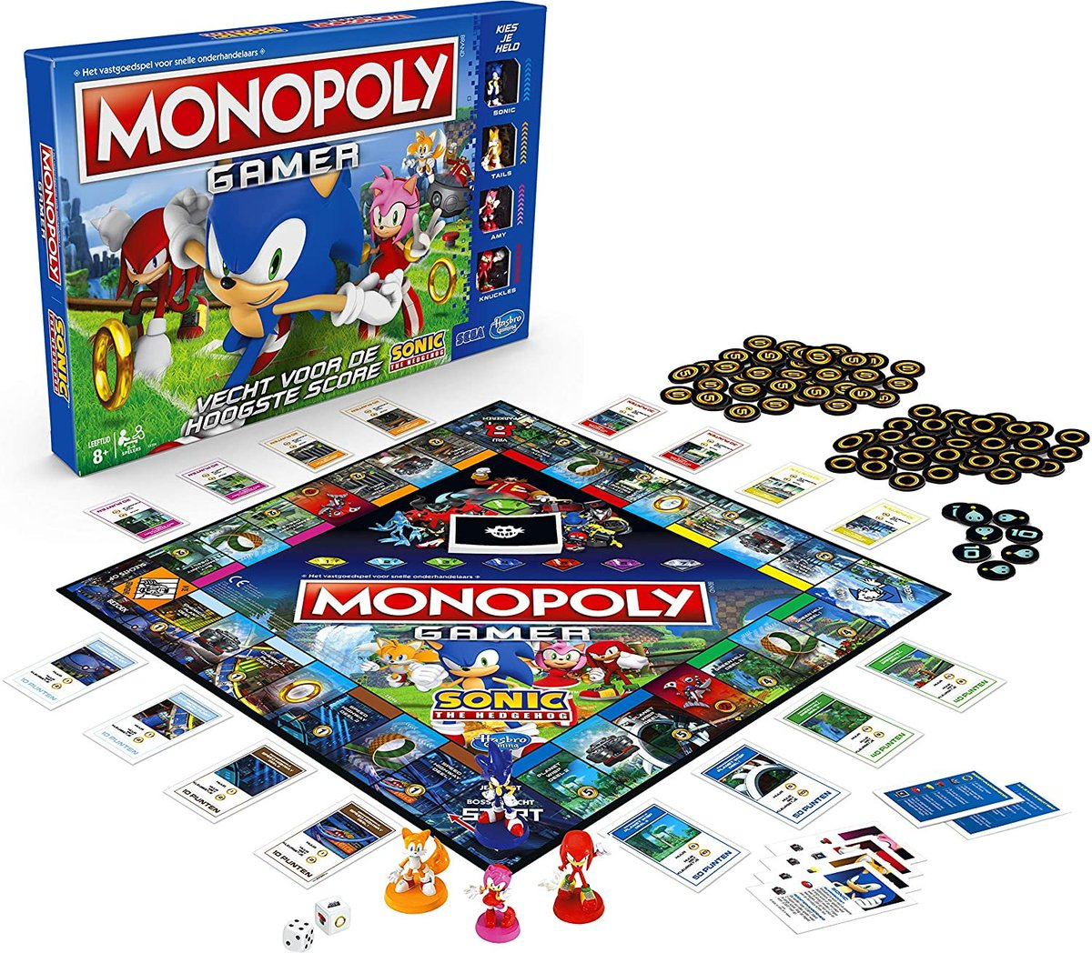 Monopoly Gamer Sonic The Hedgehog Edition Board Game for Kids Ages 8 & Up  Only $17.49!!  2