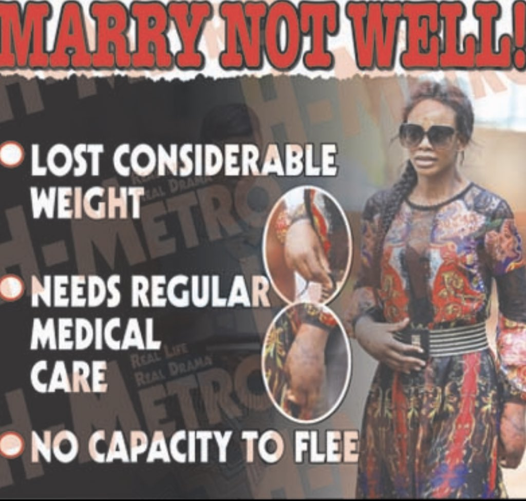 """WARRANT OF ARREST FOR MARRY! Marry Mubaiwa today failed to attend court Lawyer Beatrice Mtetwa told court that she is bed ridden at her home. """"She's not well, if court can remand her in her bed at home, she can't walk"""" @larry_moyo @Zvikoeashleigh @Lattynyangu @restmutore"""