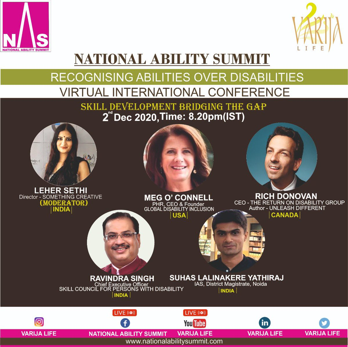"Possessing the right skills for the market is the key to employment. But what are these right skills and how to acquire them?Let's hear it from our panelists""Skill Development - Bridging the Gap""National Ability Summit-Register https://t.co/slZLqZQNm4 https://t.co/PXGB9JrPqq"