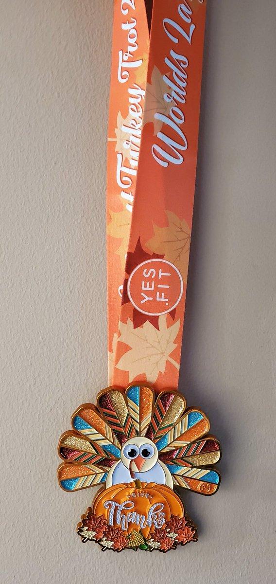 My Turkay Trot Medal!! I love it! Def one of my favorites 😍😍😍#MondayMotivation #MedalMonday #MondayMorning #MondayThoughts