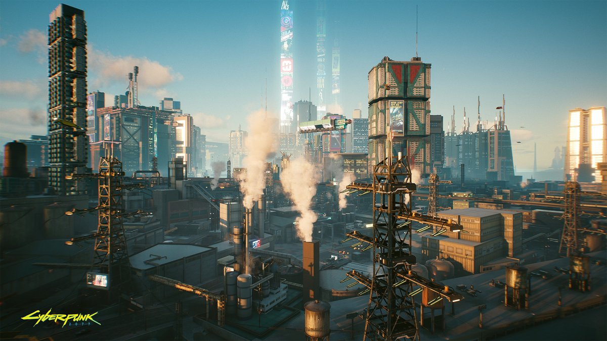 Mornings can be beautiful everywhere. #Cyberpunk2077