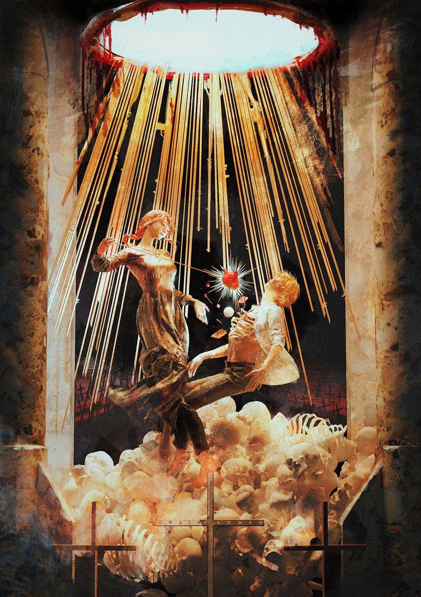 #チェンソーマンファンアート投稿  Ecstasy of Saint Teresa/聖テレジアの法悦