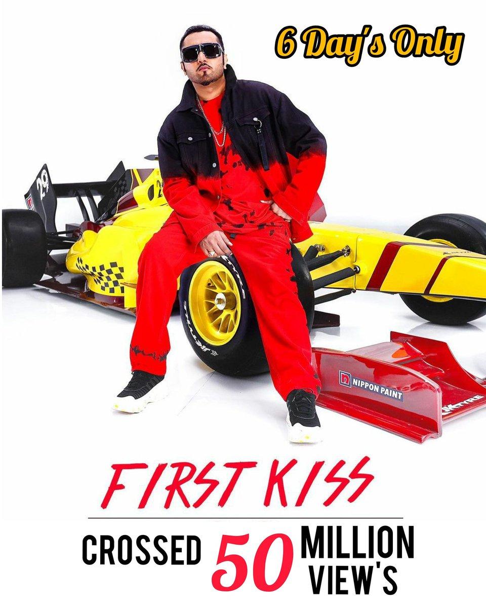 #firstkiss crossed 50 Million+ View's on YouTube in less than 6 Day's. @asliyoyo @IpsitaaOfficial @TSeries @youtube @YouTubeIndia #yoyohoneysingh #yoyo #honeysingh #tseries #50millionviews #YouTube #MusicVideo