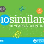 Image for the Tweet beginning: Biosimilars turned 10 this year!