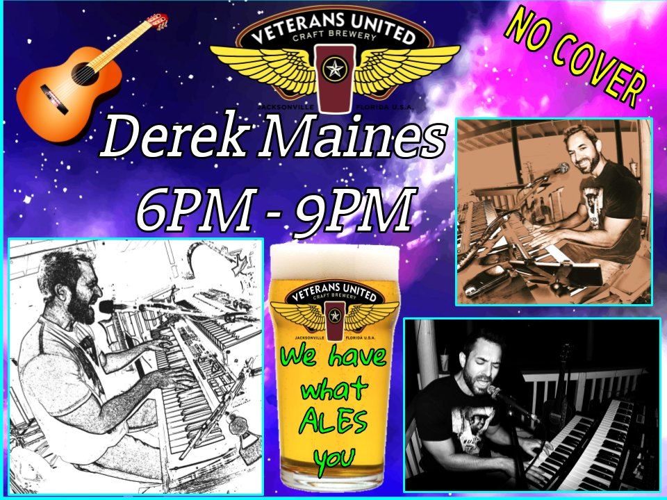 Sounds & Rhythms of Southern Soul, Blues, Funk & RnB by Derek w/ VU! 🍺  Derek's rockin' the house on Friday! 🎤🎸  #beer #BeerOClock #livemusic #musician #acousticguitar #classicrock #countrymusic #FridayVibes #FridayFeeling #FridayThoughts #goodbeer #BestBeer #beertweets https://t.co/G5J9jZszkC