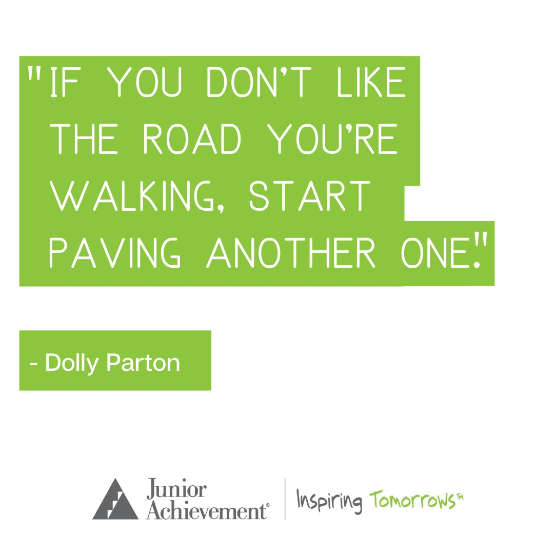 """If you don't like the road you're walking, start paving another one."" - Dolly Parton #quote #inspiration #MondayMotivation"