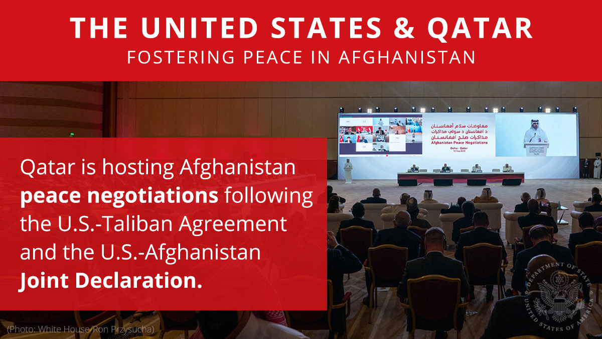 Qatar has been an important partner in fostering peace in Afghanistan and has played an invaluable role as host for Afghanistan peace negotiations. Read more:https://t.co/4MQPk8GKiV https://t.co/1kwip9YjTE