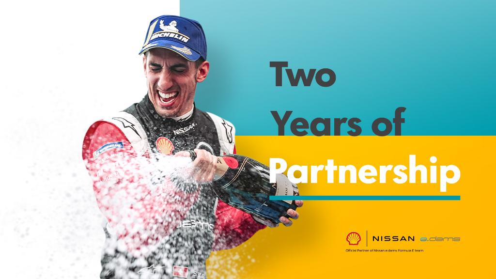 Thanks for two great years and your continued support @ShellMotorsport!  #FormulaE #NissanFormulaE #IntelligentMobility