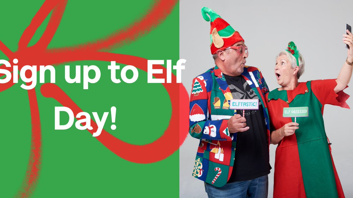 .@alzheimerssoc #ElfDay is back! Grab your finest tinsel, jingliest hat, and dress up this December to help raise money for people affected by dementia. Get your free fundraising kit here: