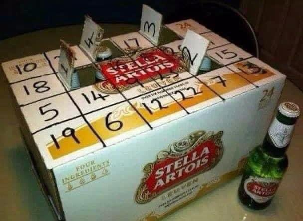 That's my advent calendar sorted 😂🎅🏻🎄⛄️🍺🍻😂 #AdventCalendar #christmascountdown #stella #stellaartois #24pack #crateofstella #HappyChristmas #Tistheseasontobejolly #christmascheer  #firstofdecember #bottle #lager https://t.co/e6zTXF0j7e