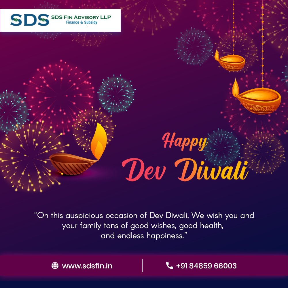 """🎇""""On this auspicious occasion of Dev Diwali, We wish you and your family tons of good wishes, good health, and endless happiness.""""🎇 Happy Dev Diwali to everyone! #DevDiwali2020 #DevDeepawali #GuruNanakJayanti #GuruNanakJayanti2020 #Diwali2020 #sdsfinadvisoryllp #Ahmedabad"""