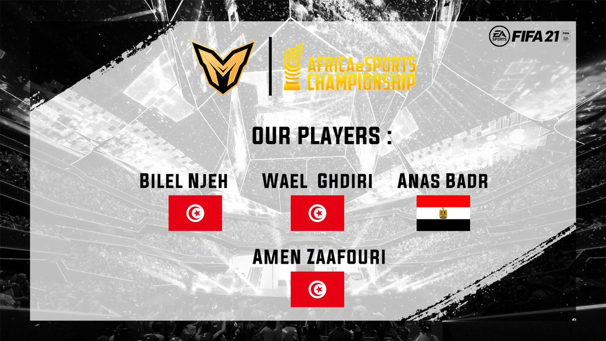 Congratulations to the qualifying players from their respective countries! With the end game nearing with each passing day, are your countries ready for the main tournament...?  #AEC2020 #FIFA21  #esports  #esportsnews #gamers   #tunisia #Egypt   #northafrica