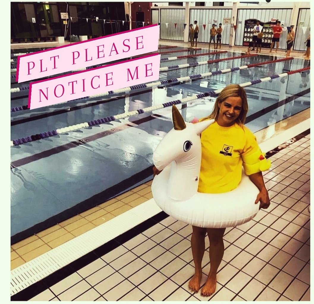 @OfficialPLT I think I deserve a prize for swimming in the staff race at the swimming gala as a unicorn, I won too ofcourse 🦄 💖🤞 #PLTPINKMONDAY #PLTNOTICEME
