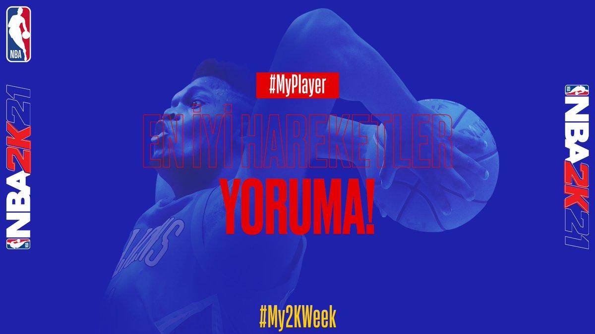 #NBA2k21'da yaptığınız en güzel hareketleri YORUMDA paylaşmayı unutmayın! 💬  #My2kWeek | #MyPlayer https://t.co/XNn2LxIJex