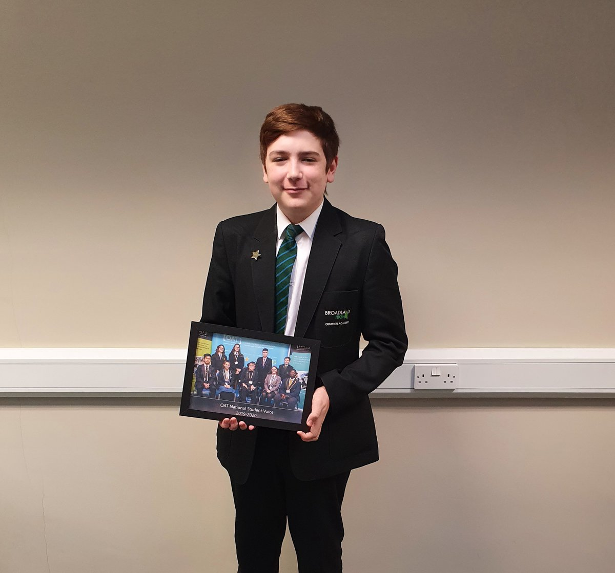 Well done to Ben for all of his work with the OAT National Student Voice team, we're very proud of you. #iwill, #studentvoice #inspiringstudentstosucceed