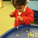 Take one pipe cleaner and some Cheerios … and watch us develop our fine motor skills and our concentration! #copthorneprep