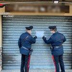 Image for the Tweet beginning: Villafrati locale chiuso con clienti
