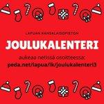 Image for the Tweet beginning: Lapuan kansalaisopiston joulukalenteri aukeaa netissä  #lapua