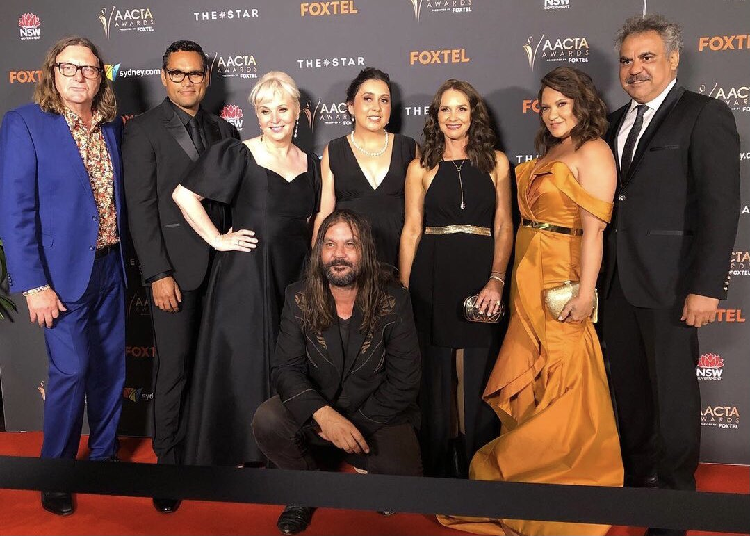 Congratulations to the team at @BunyaProduction, taking home the AACTA Award for Best Drama in the Television category for Mystery Road, season 2 🖤💛❤️  📷 @Rove #AACTA #AACTAs #MysteryRoad
