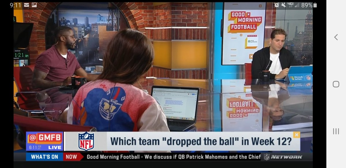"Yup @nateburleson hit the nail on the head as #AZCardinals ""dropped the ball"" esp when Murray didn't seem like him self yesterday #GMFB"