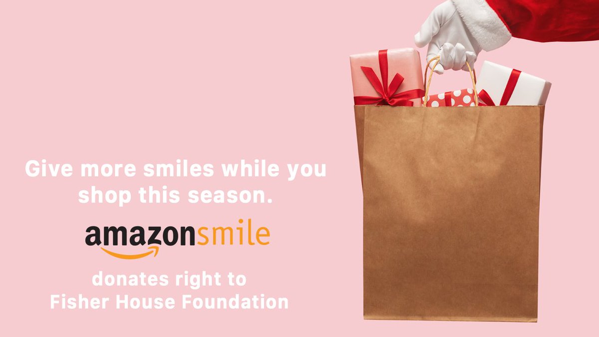 Your purchases this #CyberMonday can help #FisherHouse families.   Shop at  and @Amazon donates to Fisher House Foundation, Inc.