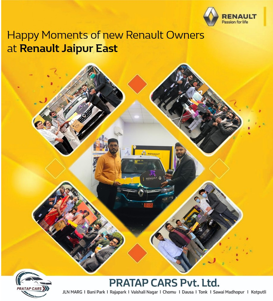Congratulations Happy Customers!! Here's wishing a warm welcome to the newest members of our Renault family!  To Know more about Pratap Renault: https://t.co/EGlaE8vBgt To book a test drive call 9799 555 333 or you can also visit Pratap Cars dealerships.  #PratapRenault #Renault https://t.co/vQlTZ6gwIa