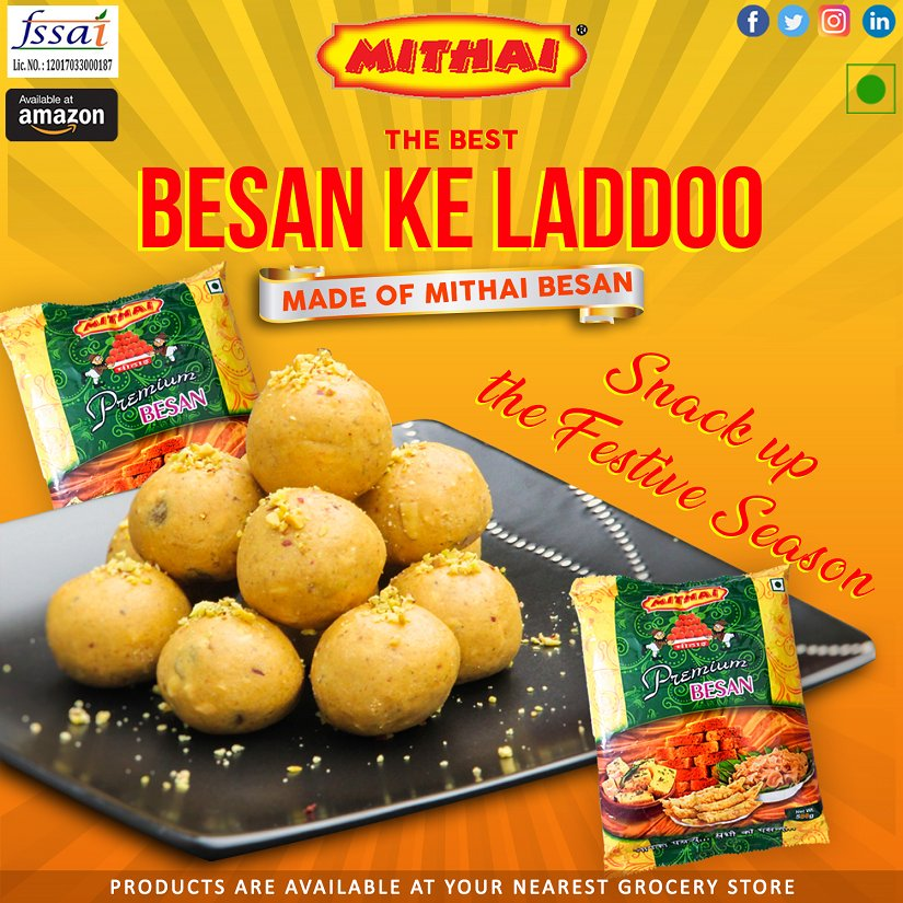 Treat yourself with yummy besan ke ladoos during this festive season, Grab one mithai besan and start preparing the sweets at home :) (y) . Visit your nearest grocery store today Know more at  . #Bhubaneswar #Cuttack #Odisha  #HappyDiwali #HappyGurpurab