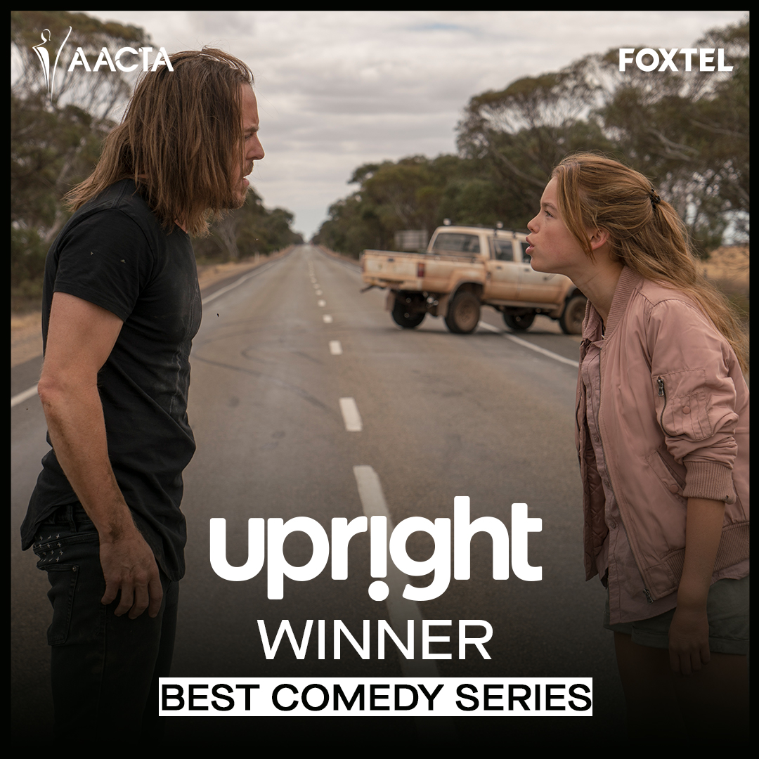 News: UPRIGHT won Best Comedy Series at the 2020 #AACTA Awards this evening, with Tim winning Best Comedy Performer for his role in the series.  #AACTAs #Upright