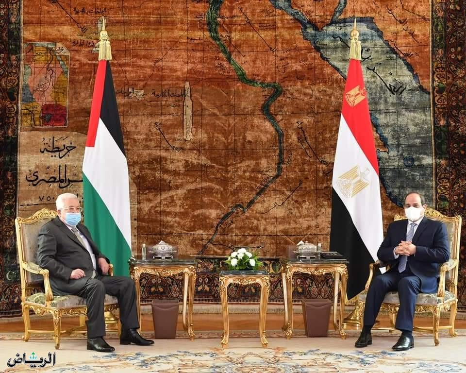 السيسي وعباس يبحثان مستجدات #القضية_الفلسطينية وعملية السلام في #الشرق_الأوسط