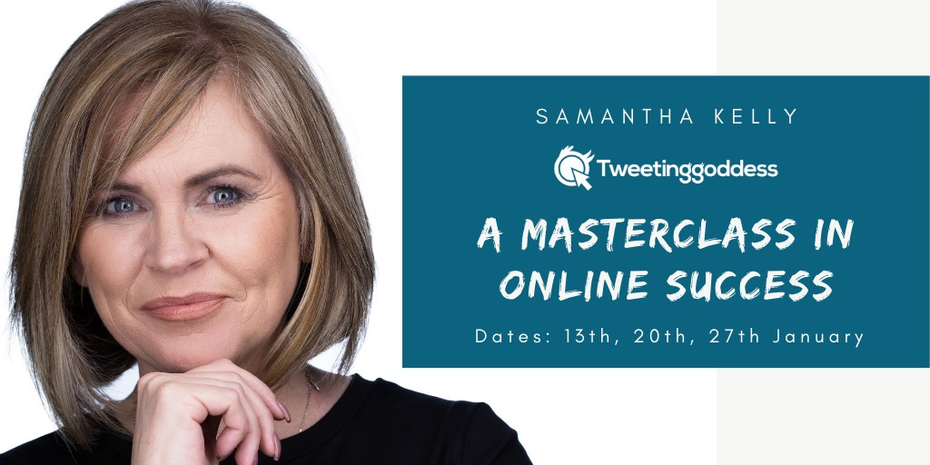 A Masterclass in online success! Get ready for 2021! #Business  Includes: 1.Twitter  2.Linkedin 3.Content Creation - What works, how to stand out from the rest. 4. How to create a webinar  5. Scheduling tools  Book now https://www.eventbrite.ie/e/masterclass-in-online-success-with-tweetinggoddess-tickets-130679416653