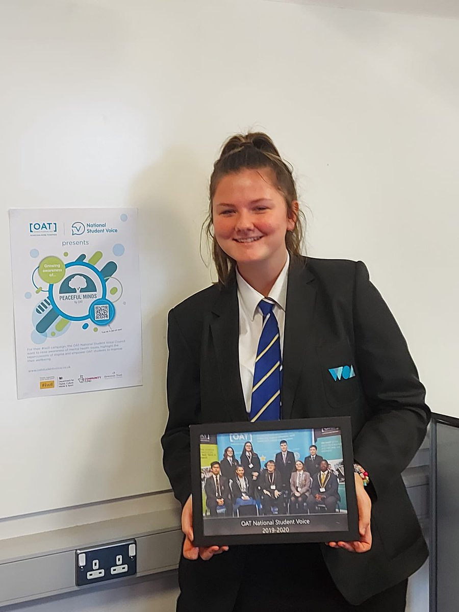 A shout out to our very own Scarlett for her amazing work as part of the OAT National Student Voice team! THANKYOU! #woafamily #believeachievesucceed #iwill #iwillfund #iwillormiston #powerofyouth #iwillweek
