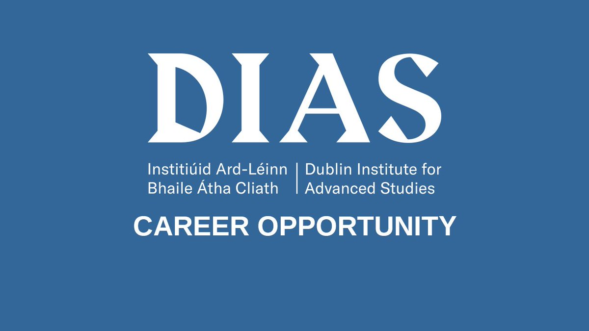 test Twitter Media - DIAS School of Theoretical Physics is hiring!  -Postdoctoral Scholarship in Theoretical Physics -Schrödinger Fellowship in Theoretical Physics  Application closes on  10 January 2021.  More details and how to apply is on our website: https://t.co/3Stg5bzdB4  #jobfairy #physics https://t.co/tpZPe8WKEN