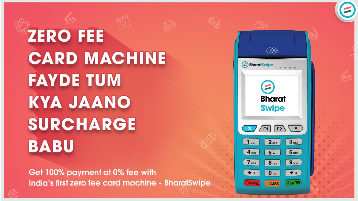 BharatSwipe, India's first zero fee card machine. Accept payments from all cards at zero rental.  Order Now -->   #BharatSwipe #filmygyaan #SirfDukdandarKeLiye #BharatPeLagaoDhandaBadhao  #swipemachine #Merchants #Fintech #madeinindia🇮🇳 #nocommision
