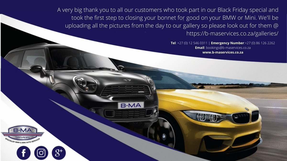 A very big thank you to all our customers who took part in our Black Friday special and took the first step to #closingyourbonnetforgood on your #bmw or #mini. We'll be uploading all the pictures from the day to our gallery so please look out for them @ https://t.co/QVHlh66EFU https://t.co/q4mfuFPeR8
