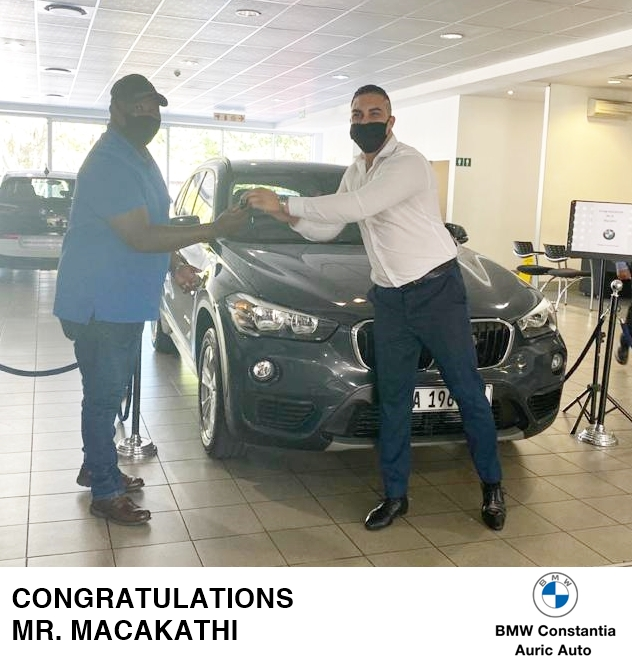 Welcome to the BMW family, Mr. Macakathi! May every journey in your new ride be one to remember! Sales Executive: Chad #BMWConstantia #AuricAuto #BMW #Deliveries https://t.co/JevEjaI0Bv