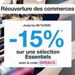 Image for the Tweet beginning: 🛍️ Réouverture des commerces 🛍️  -15%