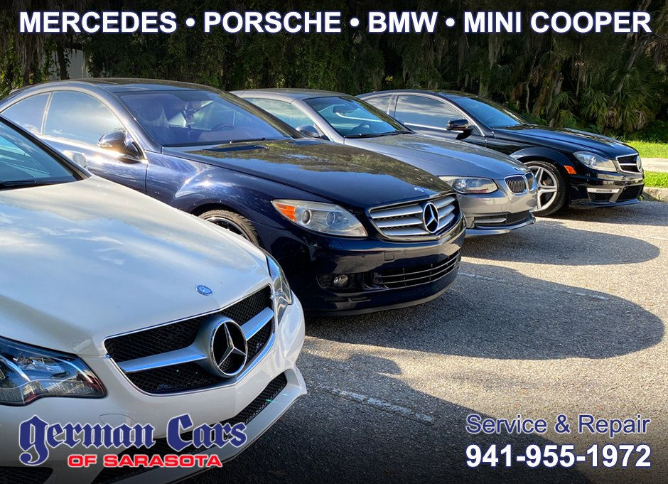 We offer superior customer care and dealer level equipment / experience at a great price. Call us at 941-955-1972 to book your appointment for your #Porsche, #BMW, #Mercedes, or #Mini Cooper. Visit us at: https://t.co/cW80BFji0K https://t.co/zbVHRktUfe