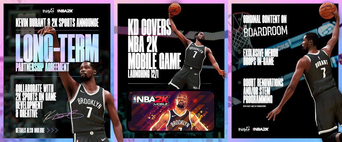 Exclusive: @KDTrey5 & @NBA2K announce a first-of-its-kind partnership. What do you want to see from the KD & 2K collaboration?