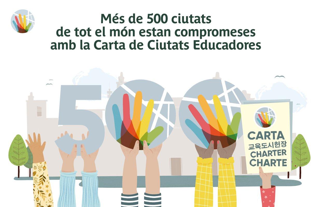 🎒#SantCugat referma el seu compromís amb la Carta de Ciutats Educadores, que enguany, coincidint amb el 30è aniversari, s'ha actualitzat per afrontar els nous reptes globals🌍  📺Mira el vídeo dels aprenentatges👉https://t.co/iyefKr90QL  @pgorina1 @mireiaingla @EducatingCities