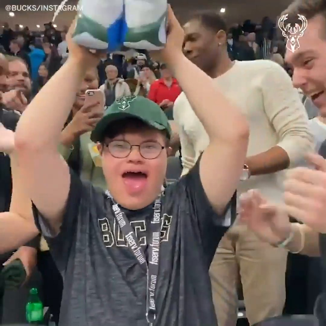 This young fan's reaction to getting Giannis' shoes on this day last year is so wholesome ❤️  (via @Bucks) https://t.co/hC0Ps2RImJ