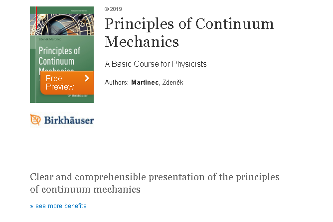 test Twitter Media - #BooksofDIAS: Principles of Continuum Mechanics  by Zdeněk Martinec (2019)  This book addresses the basic concepts of continuum mechanics, that is, the classical field theory of deformable bodies.   More: https://t.co/wVMibO5gNN   #DBF2020 #DIASdiscovers https://t.co/D6izNRYyQI