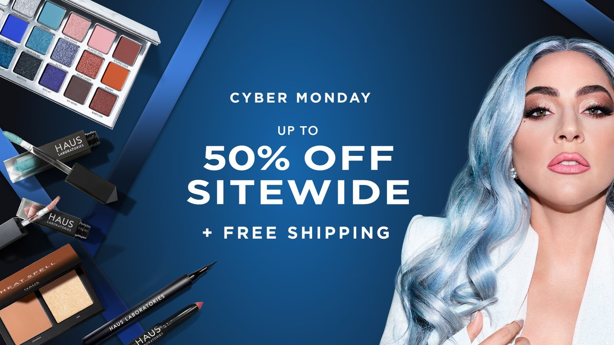 CELEBRATE #CYBERMONDAY WITH THE HAUS 🎉 Shop now for up to 50% off + FREE SHIPPING