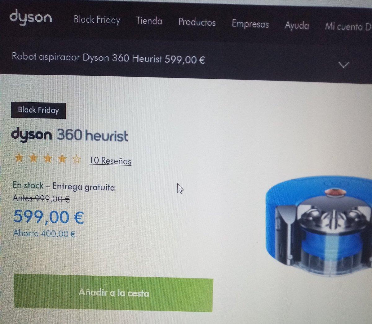 1. Este robot aspirador es muy demandado y su oferta real en Black Friday, dado en cuenta que es su pagina oficial Dyson. #GACartuja https://t.co/2EuGI9iPsh
