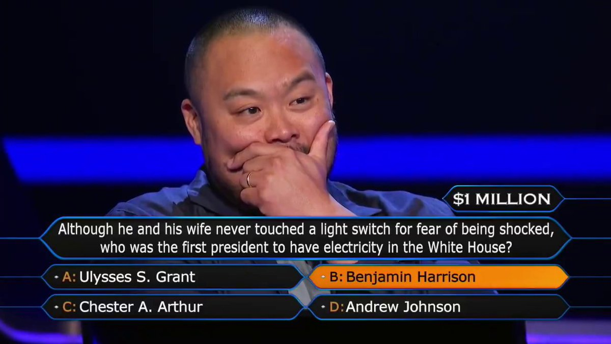On Sunday night's @MillionaireTV, @minakimes was called to help answer the $1M question.  Now @davidchang is donating the prize money to hospitality workers in need 👏 https://t.co/QDlG4CTtuA